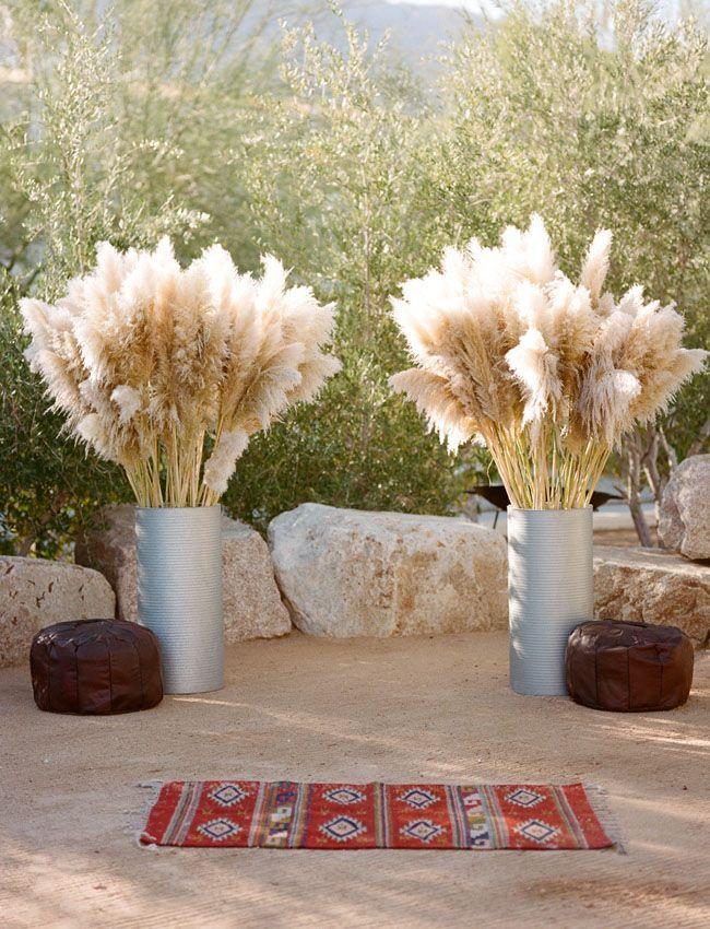 Fabulous Pampas Wedding Altars Grass Wedding Palm