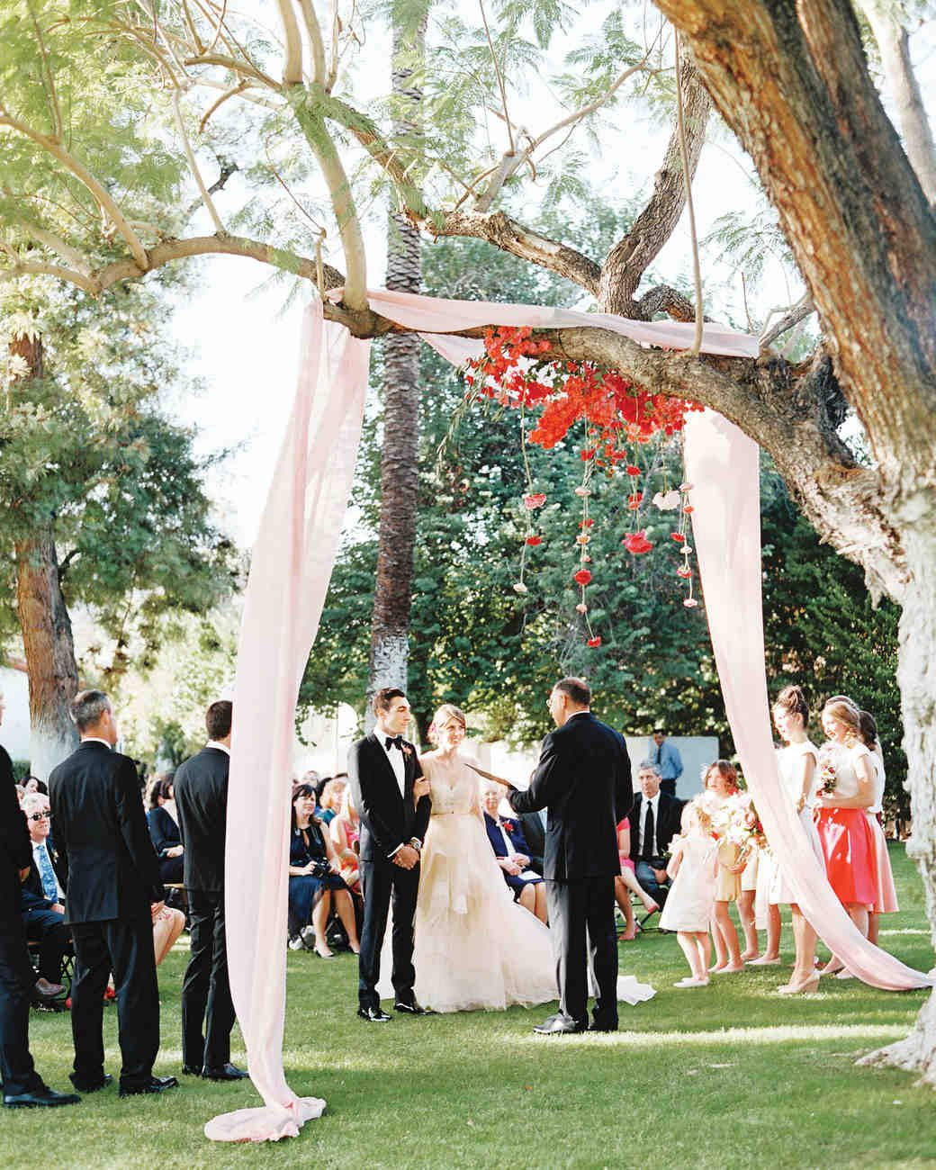 Flowing Fabric Wedding Canopy HANGING CANOPY Gauzy Blush Pink Ranunculus And
