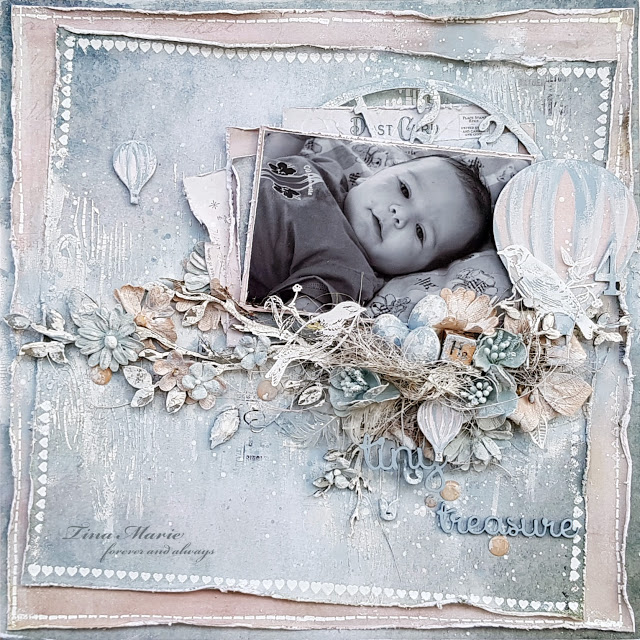 The Dusty Attic Blog Tiny Treasure Tina Ollett Mood Board Inspiration In 2020 Tiny Treasures Ink In Water Baby Scrapbook