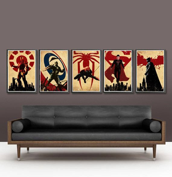 Captain America Bedroom Ideas For Boys Superheroes Series Batman