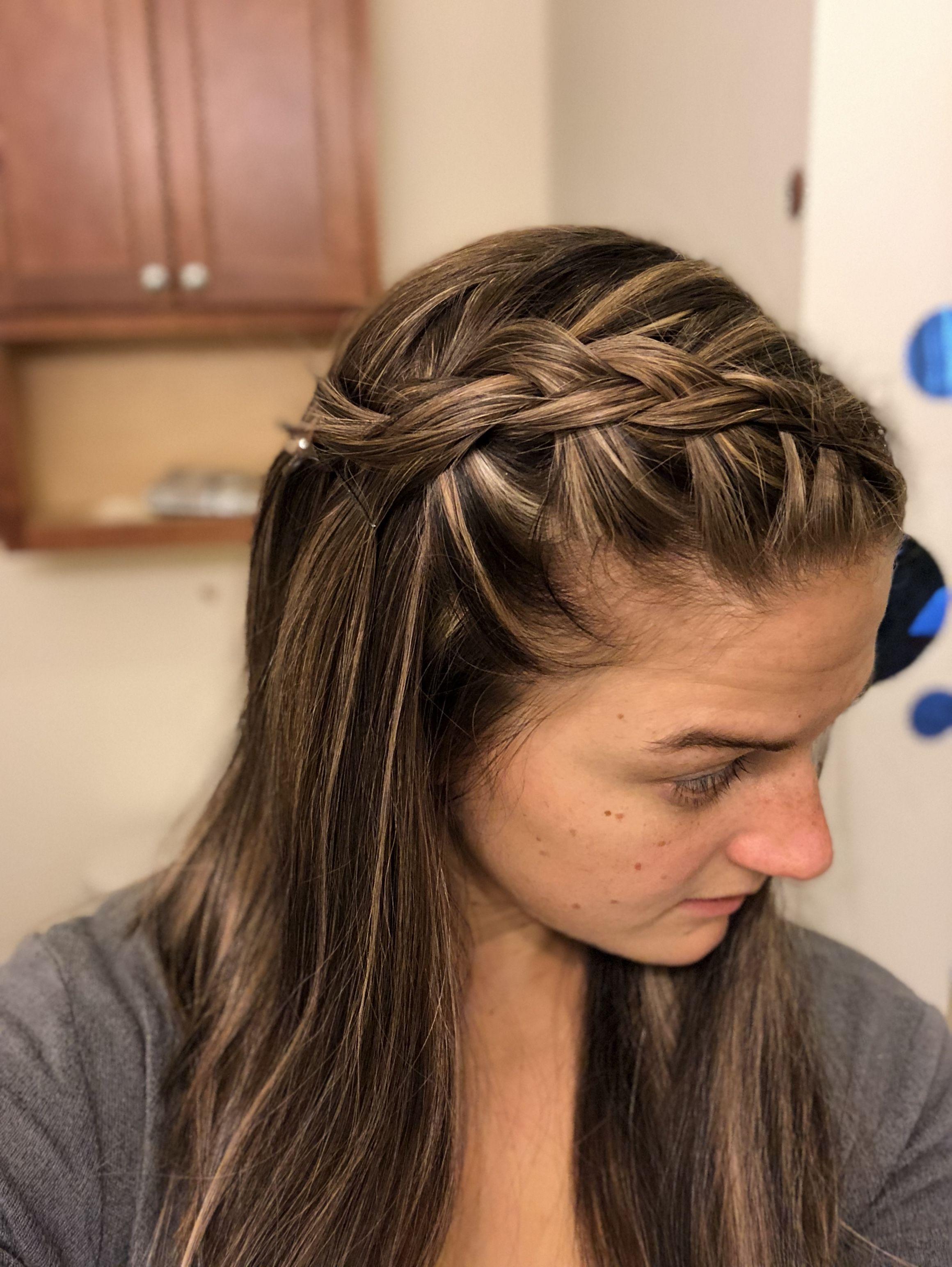 lowlight/highlight side french braid | hair | braided