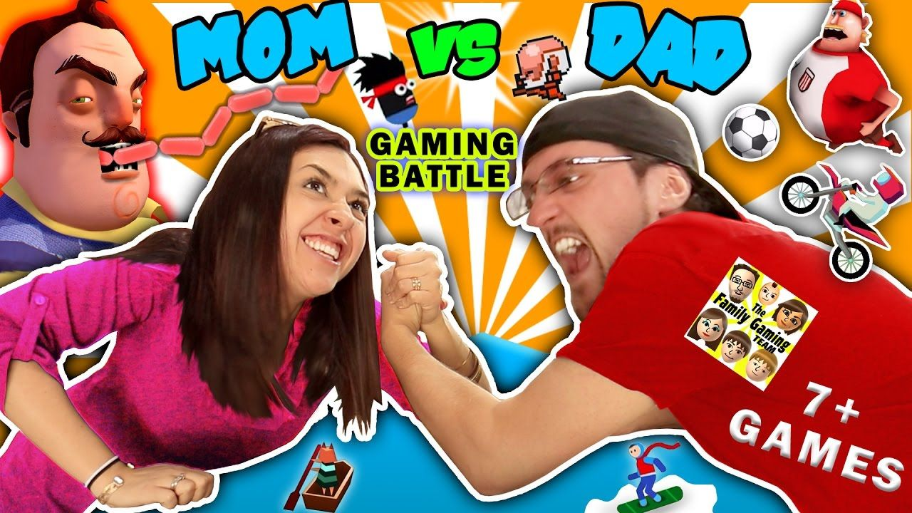 Fgteev Mom Vs Dad Gaming Challenge Hello Neighbor Sausage - sis vs bro roblox granny youtube