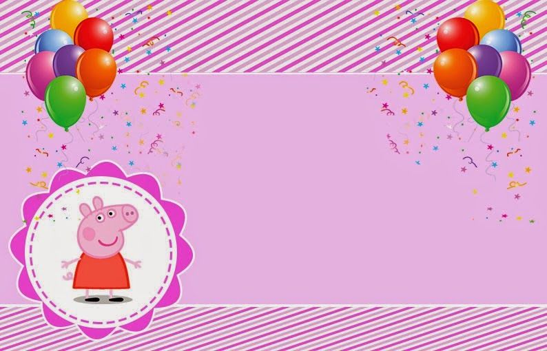 Peppa Pig Free Printable Invitations Labels Or Cards Party