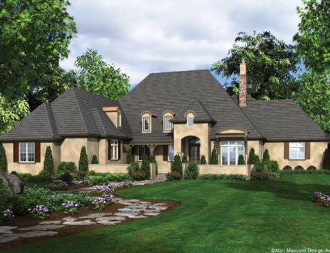 Mascord House Plan 2459 French country house plans, French country