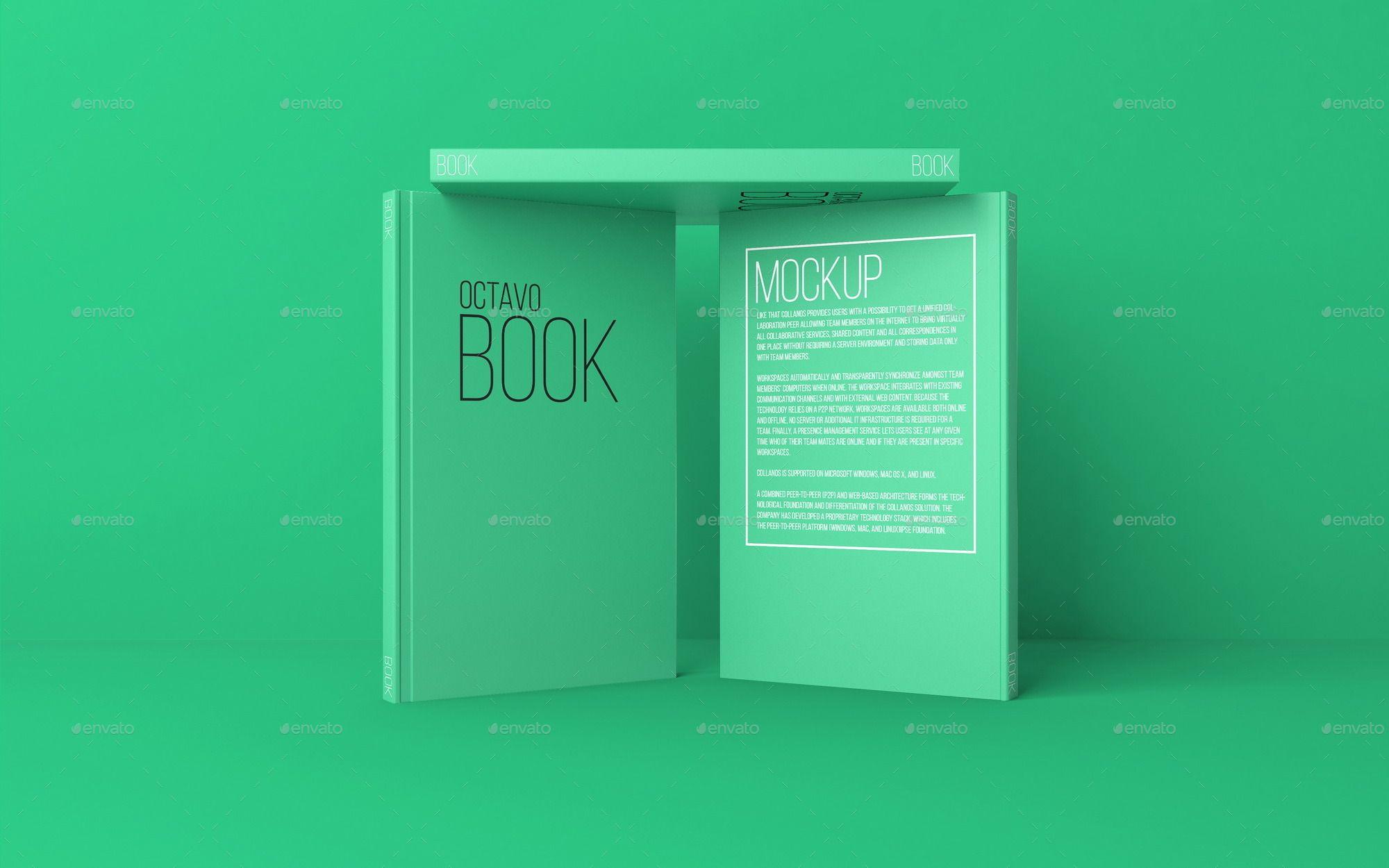 Octavo Book MockUp Set.1 Locker storage, Cover design