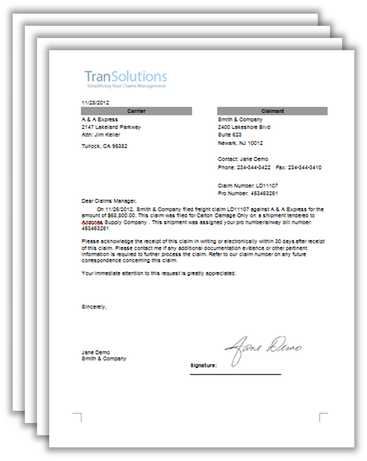 Claim Letter Format Sample Formal Letters Template Writing Another
