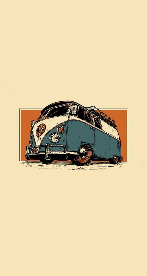 Vw T1 Bus Wallpaper Bus Art Volkswagen Bus Art Vw Art