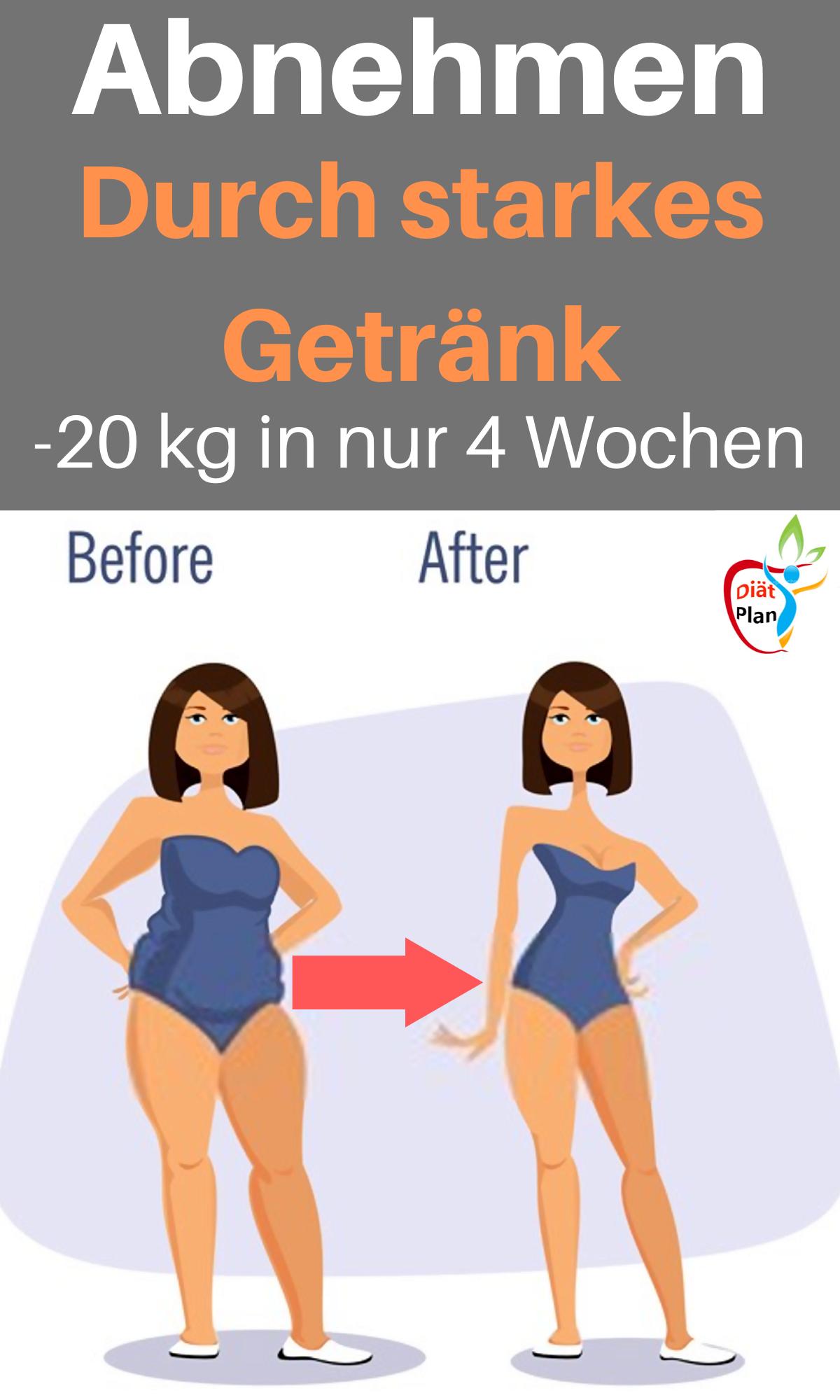 Diät, um 20 kg in 4 Monaten zu verlieren