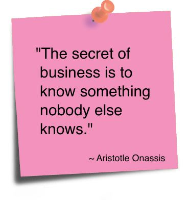 The secret of Business
