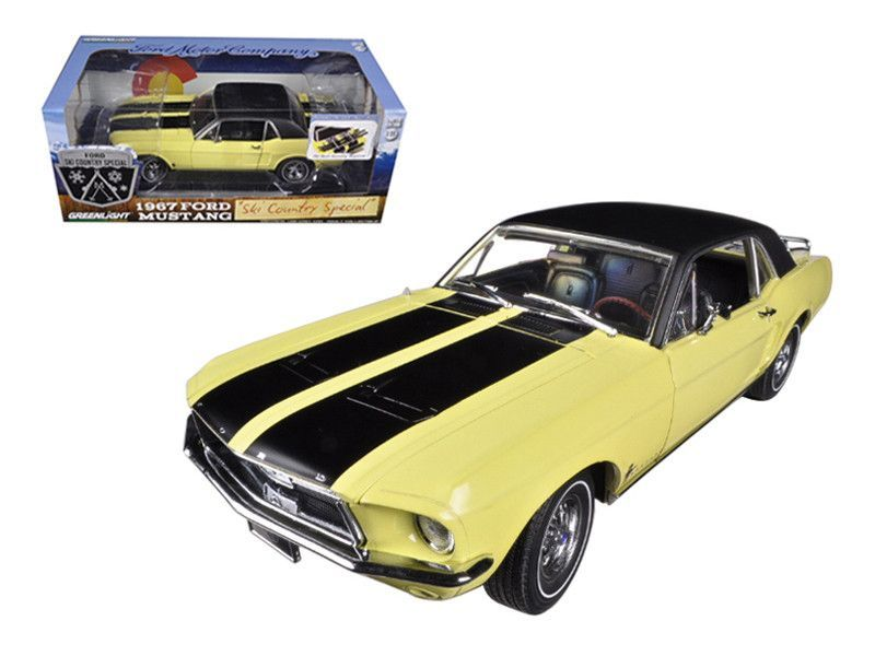 1967 Ford Mustang Coupe Ski Country Special Breckenridge Yellow With Black Stripes And Black Vinyl Roof And A Ford Mustang Coupe Mustang Coupe Ford Mustang