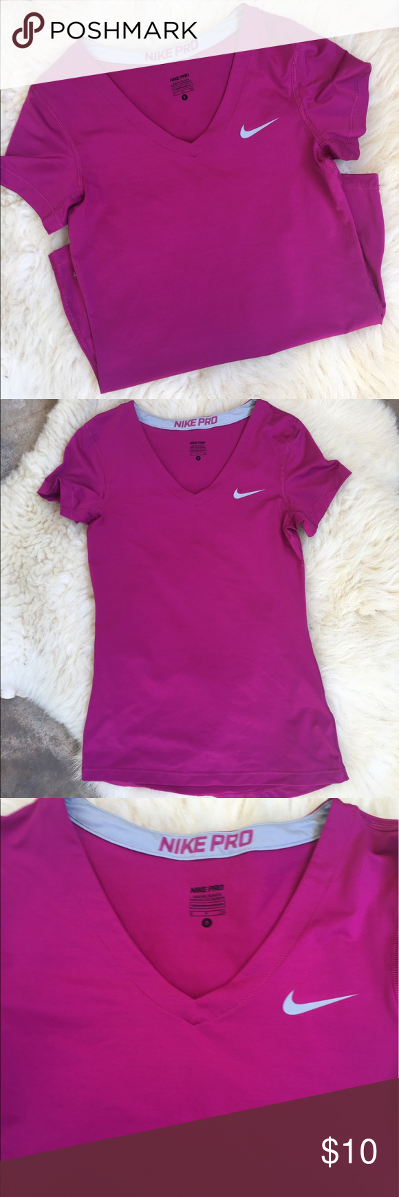 Nike Pro T-shirt 🌺 In like-new condition, Size S. Comes from non-smoking, pet-free house. Nike Tops Tees - Short Sleeve