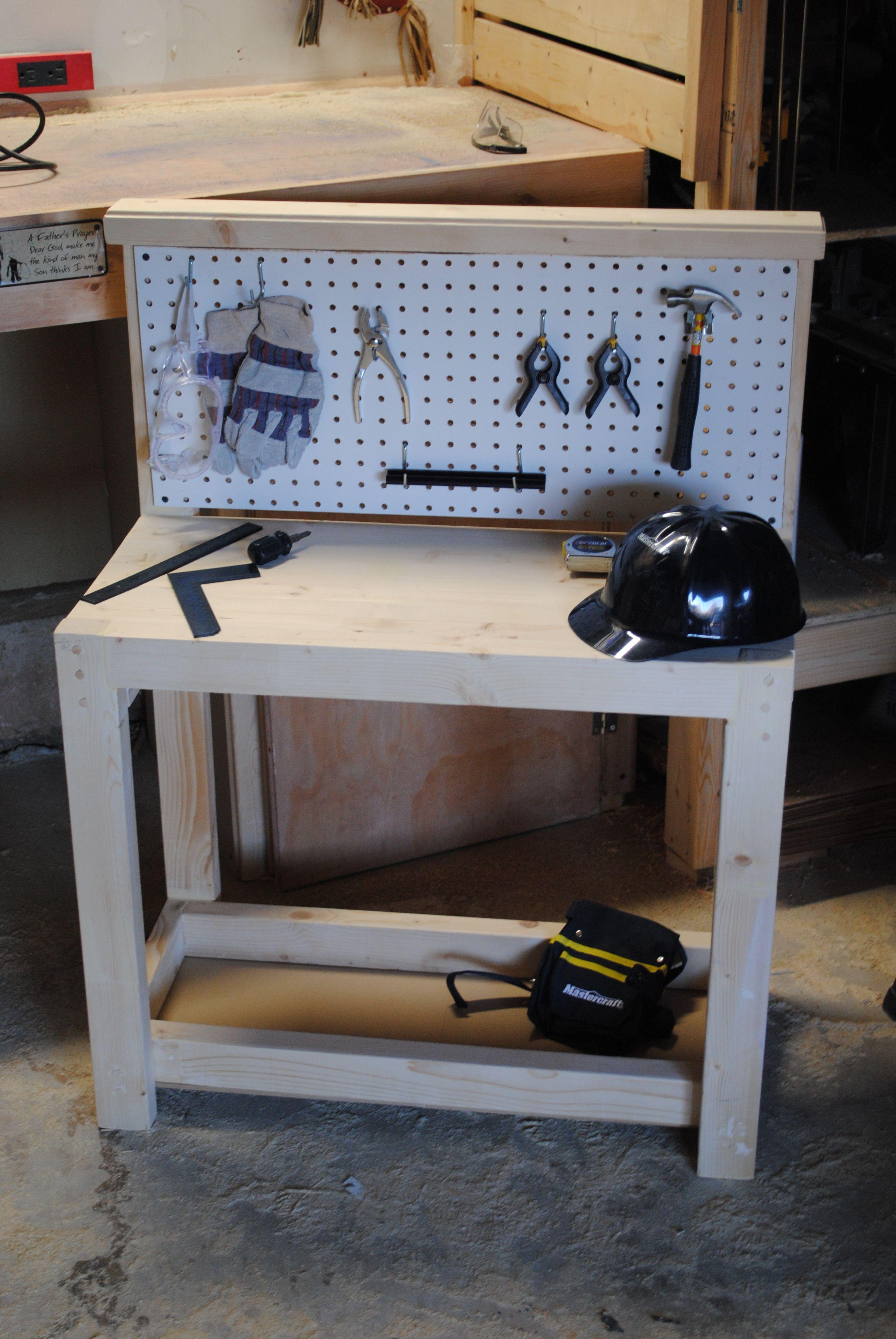 kids workbench for christmas tools included my work pinterest werkbank kinder kinder und. Black Bedroom Furniture Sets. Home Design Ideas