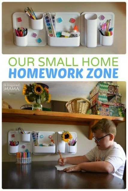 44 Trendy Homeschool Organization For Small Spaces Large Families,  #families #homeschoolingideassmallspaces #homeschool #Large #Organization #Small #Spaces #Trendy