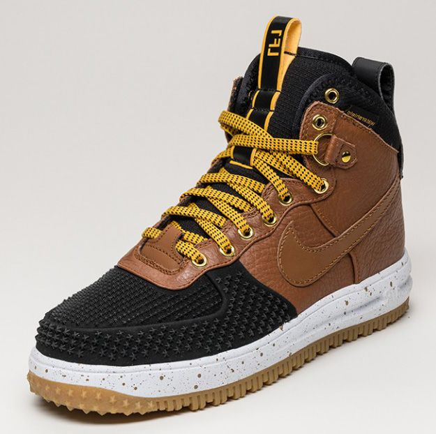 nike air force 1 duck boot british tan\/black rawlings