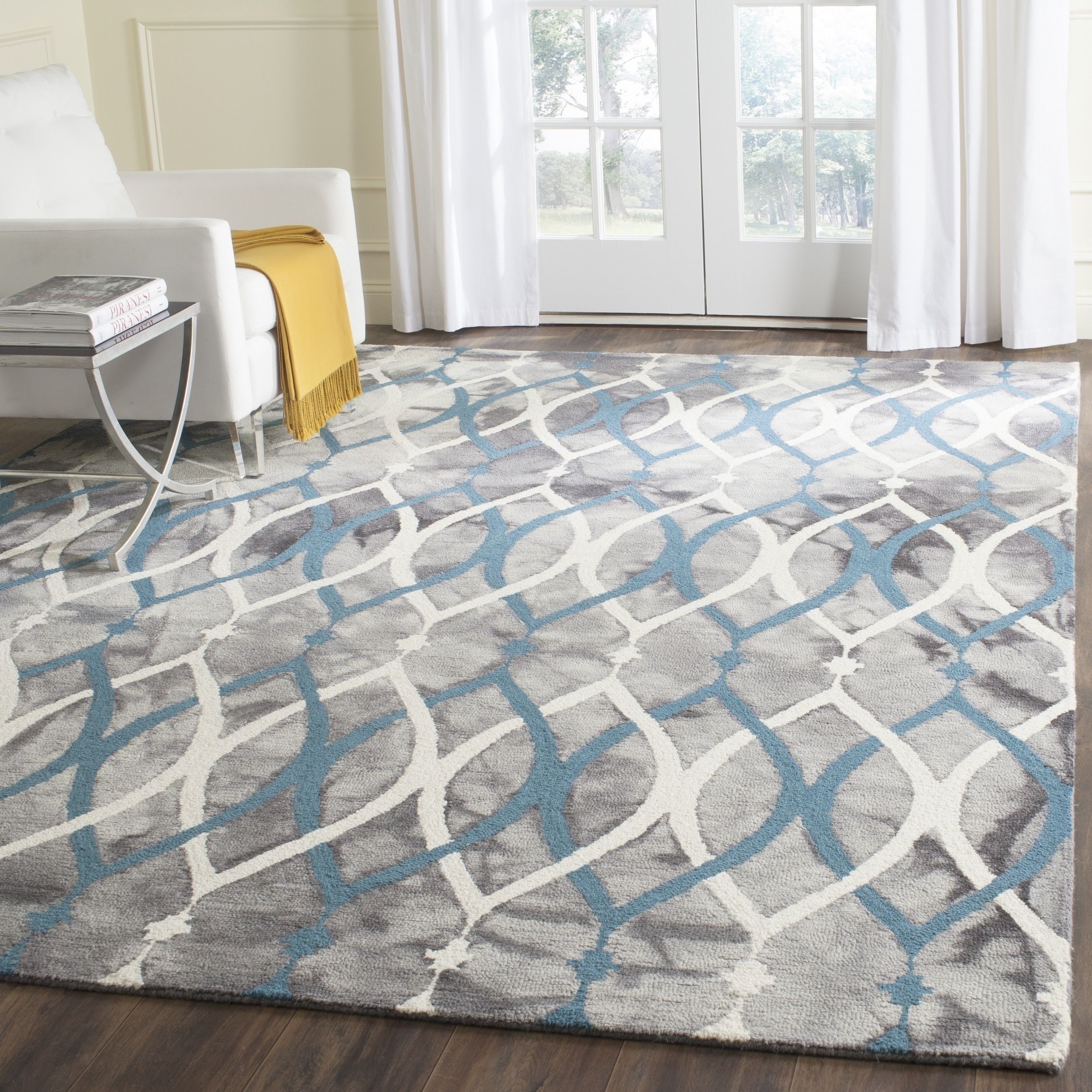 Overstock Com Online Shopping Bedding Furniture Electronics Jewelry Clothing More Blue Wool Rugs Modern Carpets Design Geometric Area Rug