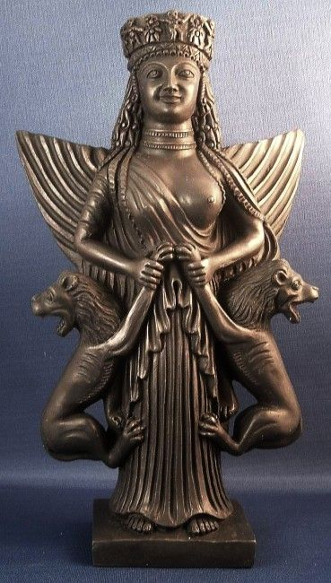 Middle Eastern Goddess Anahita, the Lioness Lady and Queen of Beasts [British Museum, 500 BCE]