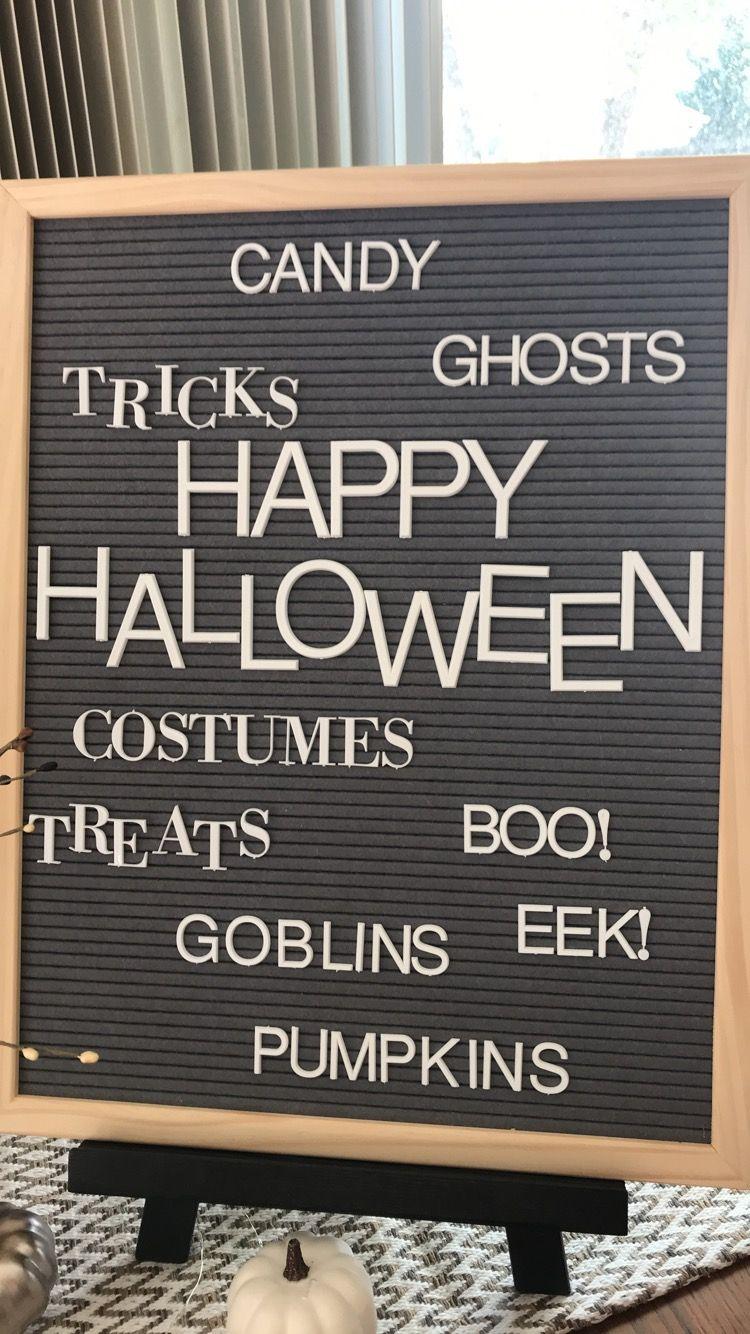 Letter Board Halloween 10/2018 Letter board, Halloween