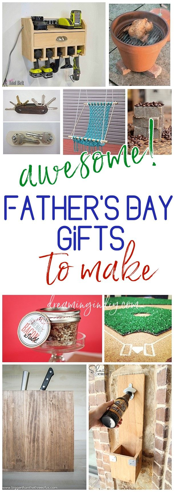 A Do It Yourself Father's Day DIY Gift Projects, Recipes and Ideas Dad will LOVE! - Cool fathers day gifts, Father's day diy, Diy projects gifts, Diy gifts for men, Diy holiday gifts, Diy gifts for dad - It's that time of year! Time to start thinking about what to make for your HERO and for your Kids' Hero! While Dads seriously do love framed handprint art and watercolor pai…