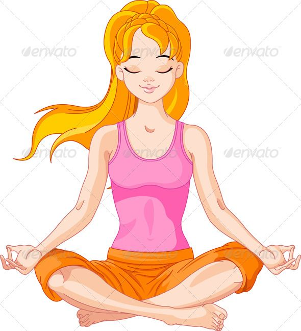 Yoga Girl Meditation Pose Drawing Drawing People Yoga Drawing