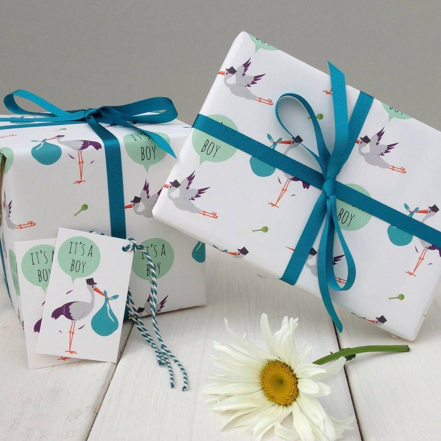 New Baby Boy Gift Wrap Gifts Wrapping Packages Gift Wrapping