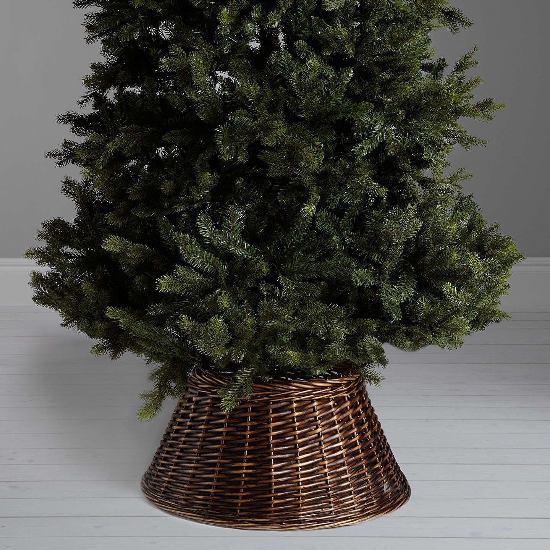 John Lewis Christmas Tree Skirt.John Lewis Lima Llama Wicker Tree Skirt Chocolate