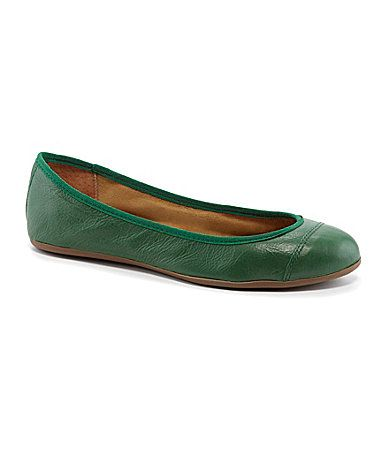 Corso Como Famenka Leather Ballet Flats #Dillards. Luv the green!