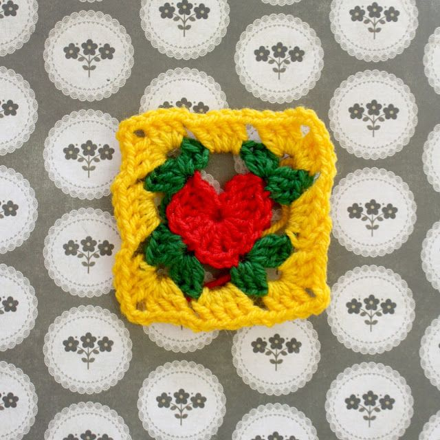 how to crochet a heart: granny square by Emma Wilkinson | Textile ...