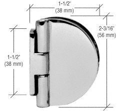 Crl Chrome Half Round Light Duty Frameless Shower Door Hinge By Cr