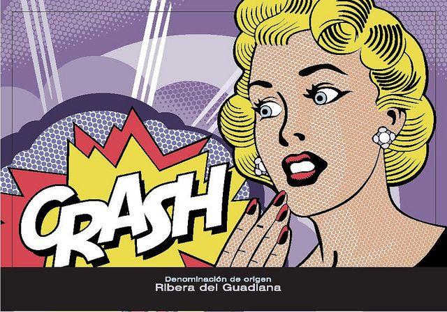 Crash Wine Label (2011) design: Alvaro Ortega ; artwork inspiration: Roy Lichtenstein Pop Art style #wine label
