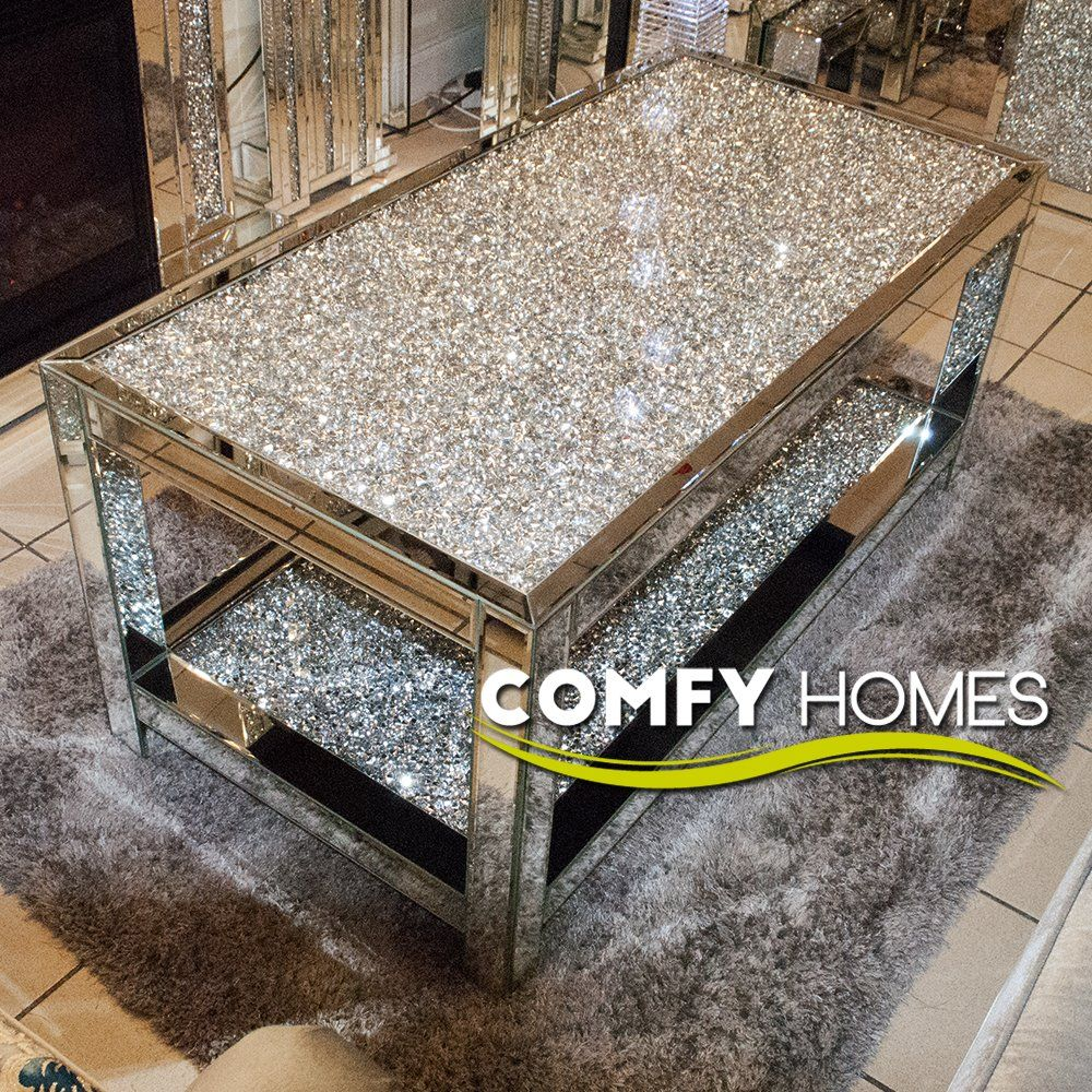 Mirrored Crushed Crystal 2 Tier Coffee Table Milano Coffee Table Mirrored Coffee Tables Coffee Table Rectangle [ 1000 x 1000 Pixel ]
