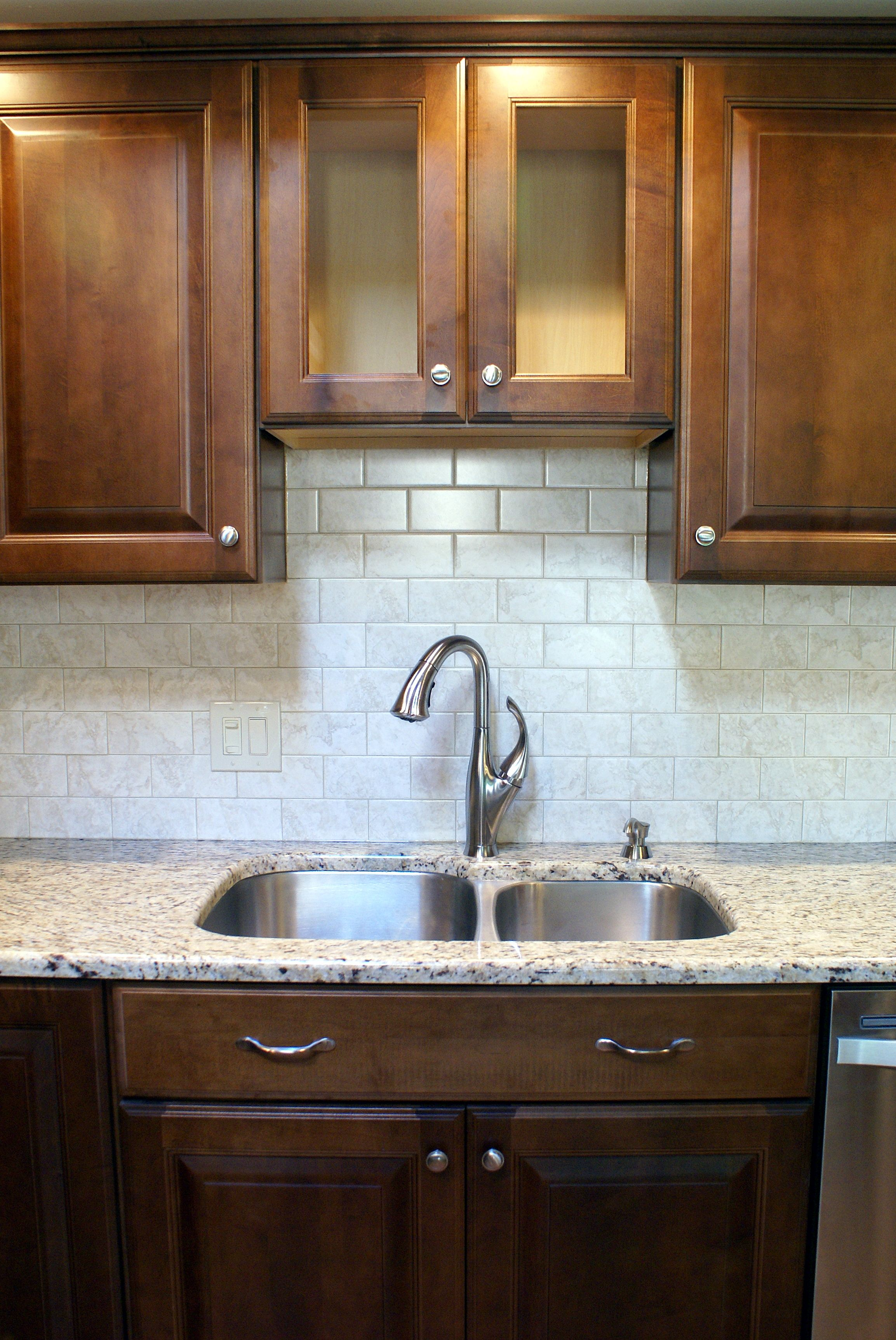 Leather Diamond Vibe Kitchen With Giallo Ornamental Granite Countertops 4 Of 6 Kitchens
