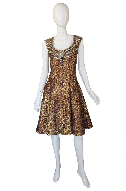 Recent Naeem Khan Beaded Leopard Dress