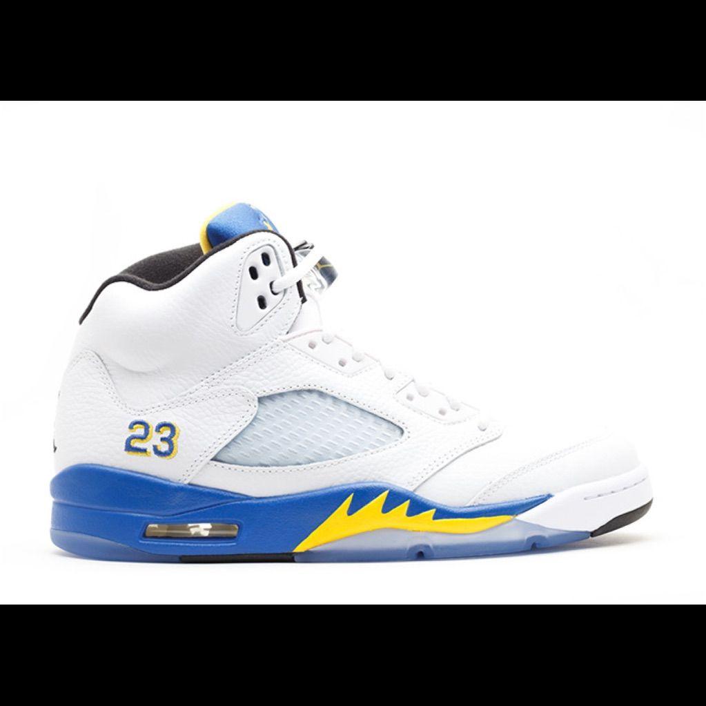 jordan 5 blue yellow