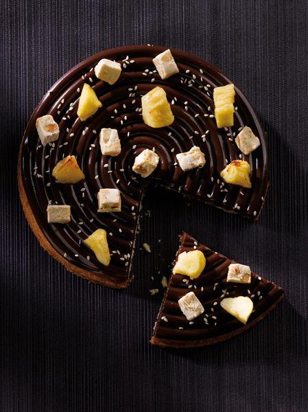 "tarte pomme, gianduja, nougat ""le gâteau de mes rêves christophe"
