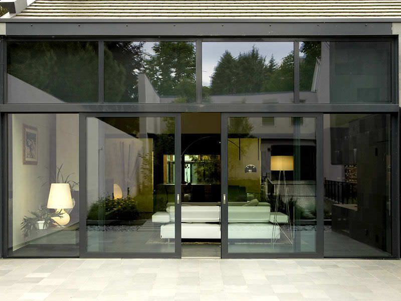 Sliding Patio Door Aluminum Double Glazed Acoustic Nc S 120 Sth Metra Sliding Patio Doors Patio Doors Barn Doors Sliding