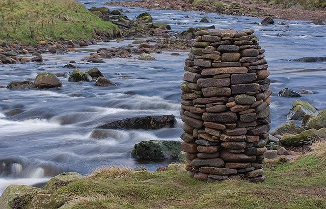 River Stone Cairn   Stone cairns, Waterfall art, Andy ...