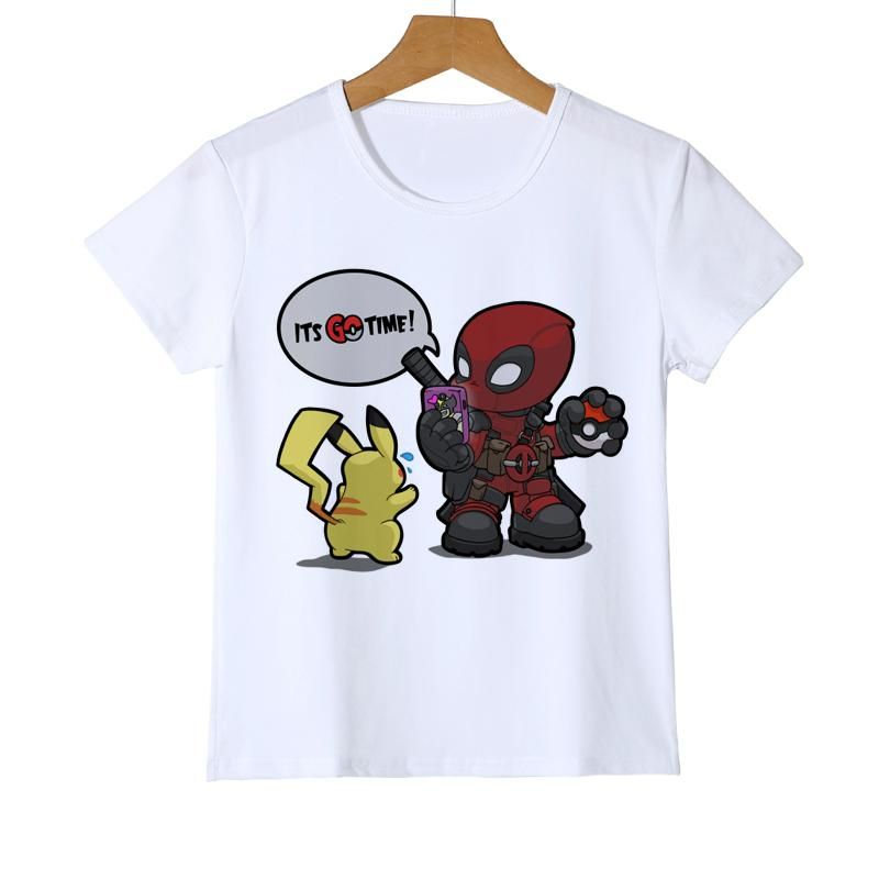 e609f6bba0d Summer Kid s Deadpool Pokemon T shirt Fashion Printed Boy Girl Pikachu  T-Shirts funny Design dead pool t shirt tops tee Y11-4. Yesterday s price   US  5.72 ...