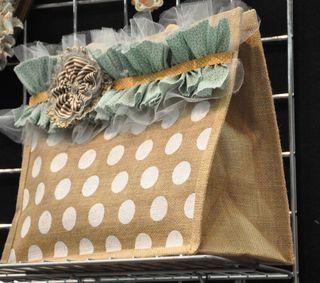 Love the ruffle and toile idea.  Cute!