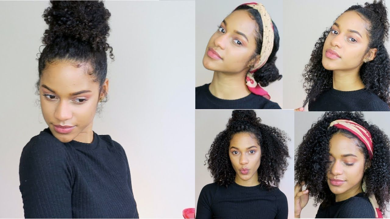10 Cute & Simple SUMMER Hairstyles For Curly Hair 20110! - YouTube