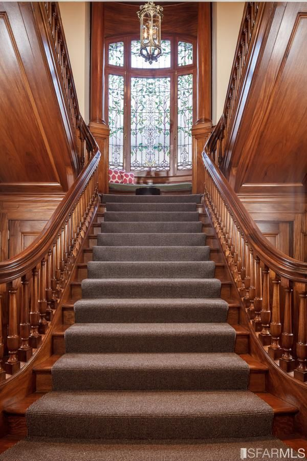 Foyer Stairs For Sale : The historic hellman mansion in san francisco for sale