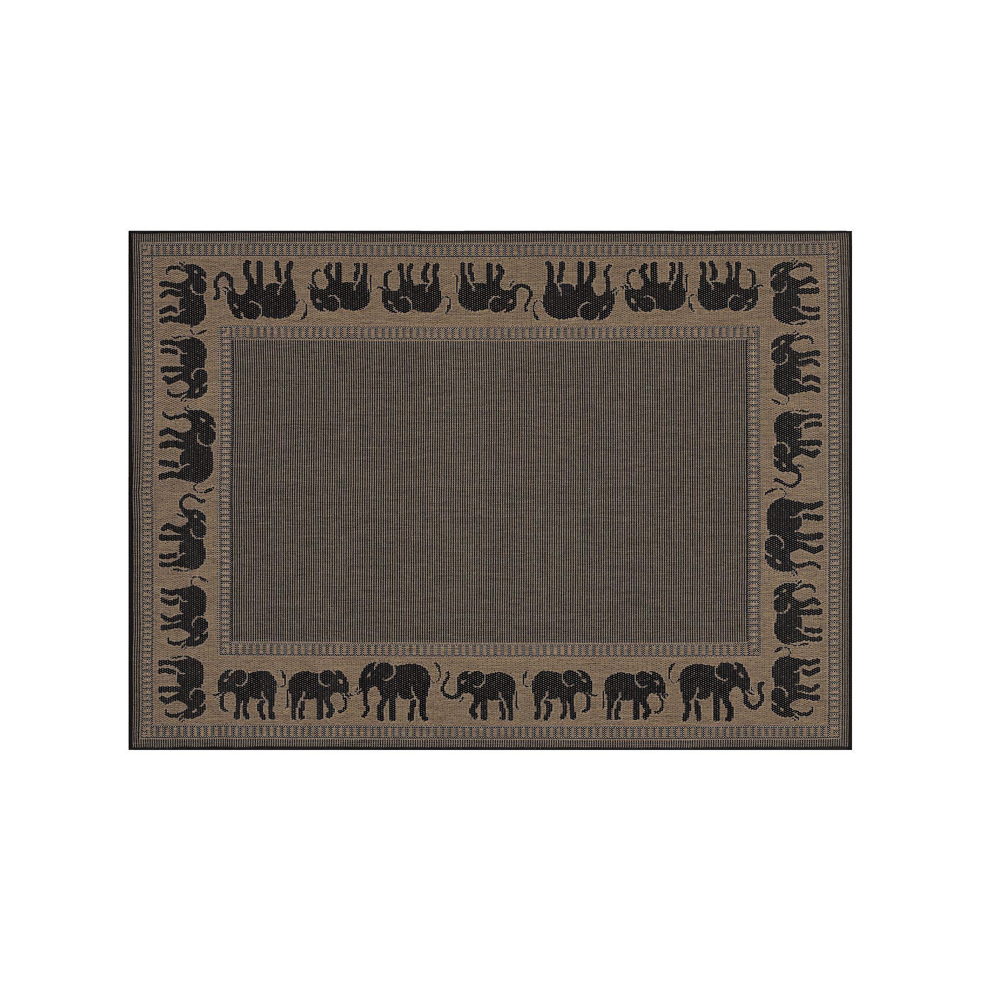 Couristan Elephant Indoor Outdoor Rug Brown 5x7 5 Ft