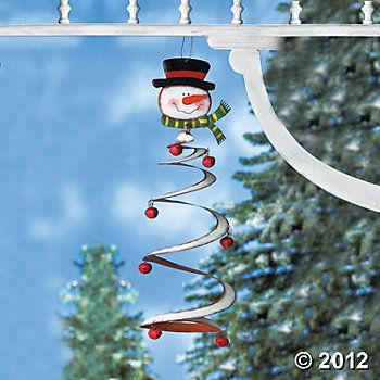 Jingle Bell Snowman Mobile, Garden Accents, Outdoor - Terry\u0027s