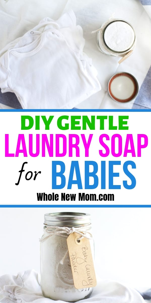 Homemade Gentle Laundry Detergent for Babies and Sensitive