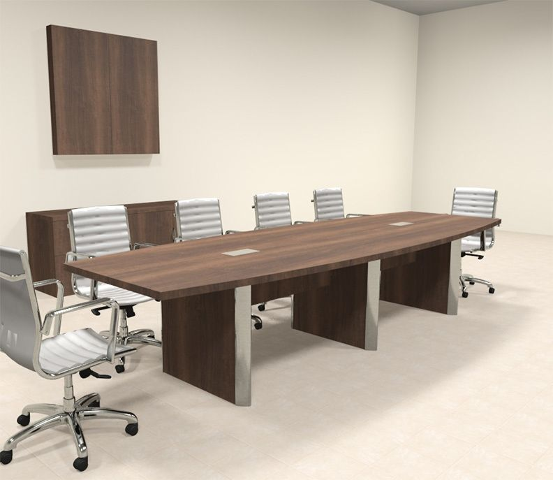 Modern Boat Shaped 12 Feet Conference Table Of Con Cp9