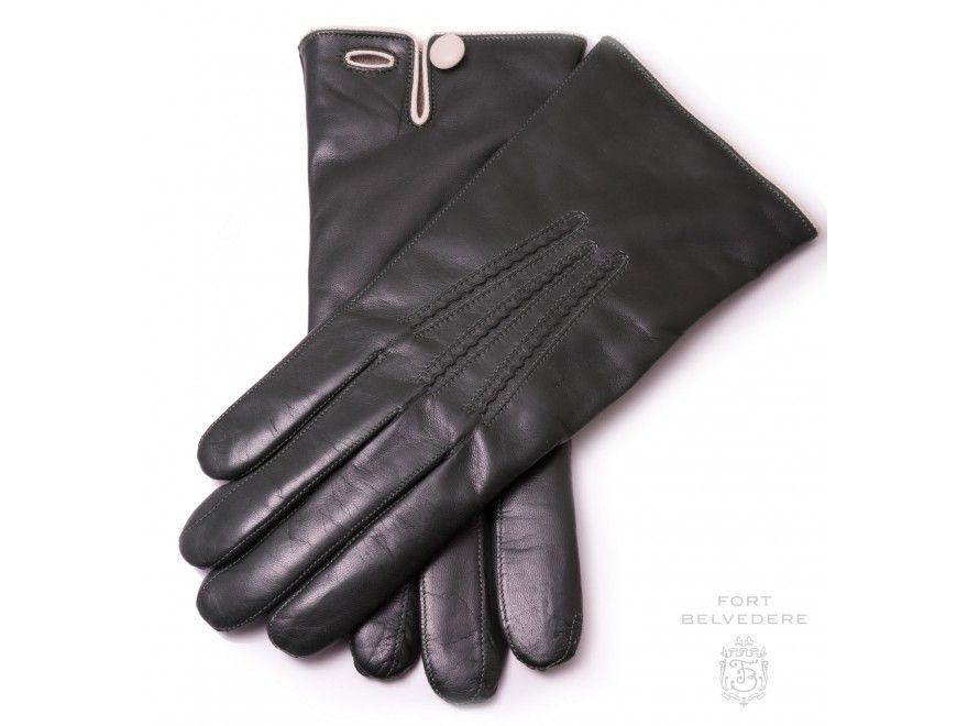 Dents Mens Cashmere Lined Touchscreen Leather Gloves Brown
