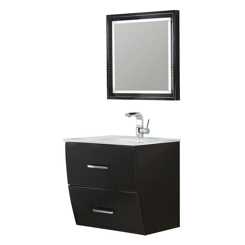 Fresca Platinum FPVN7624 Wave 24 in. Single Bathroom Vanity - FPVN7624BL
