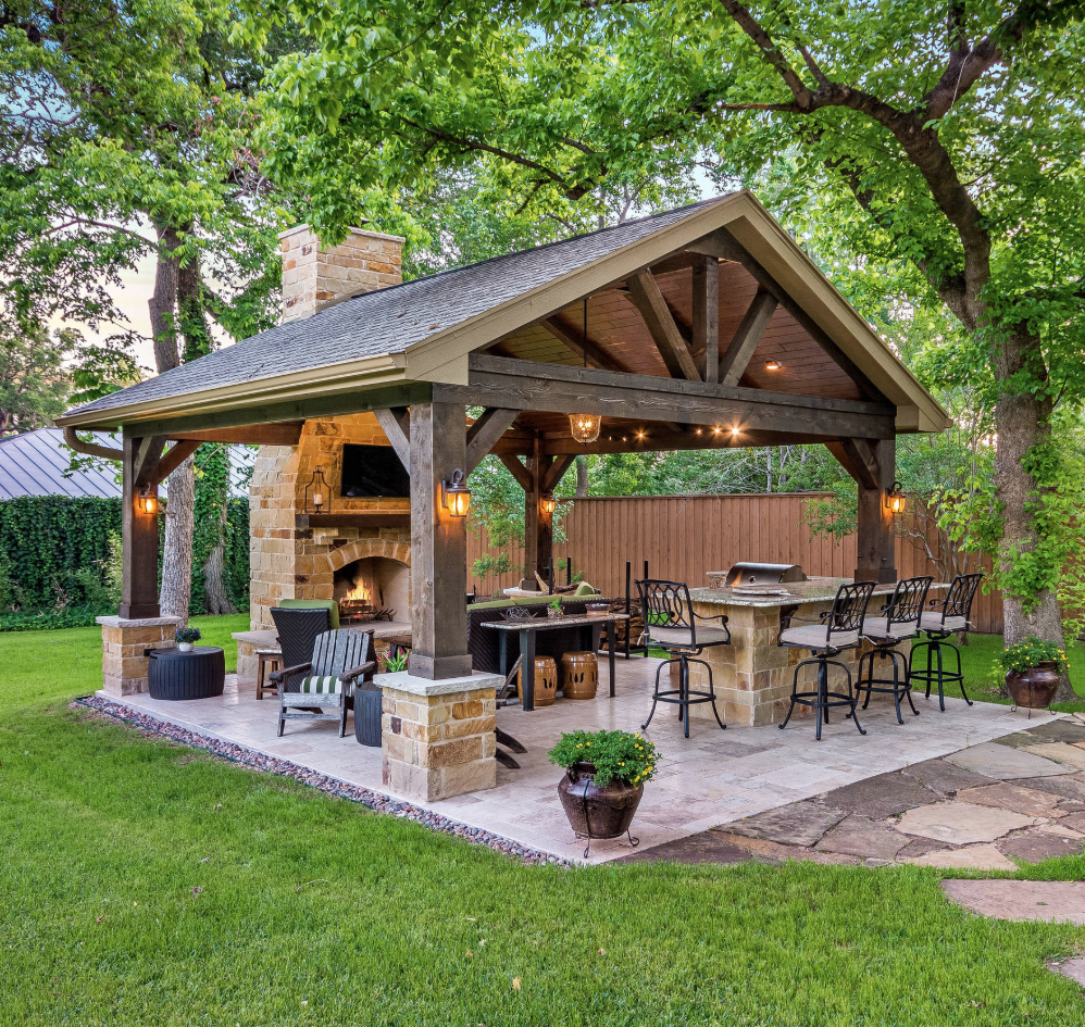 Outdoor Kitchen Dining Backyard Patio Designs