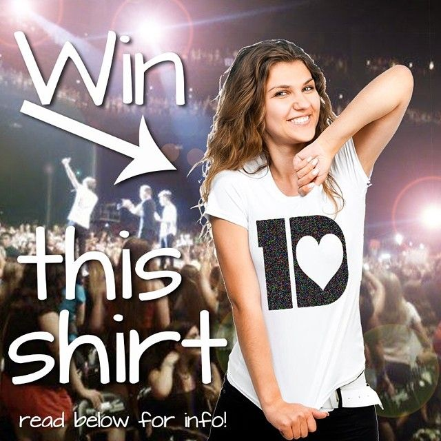 Win this One Direction t-shirt in our 1D T contest on Instagram!