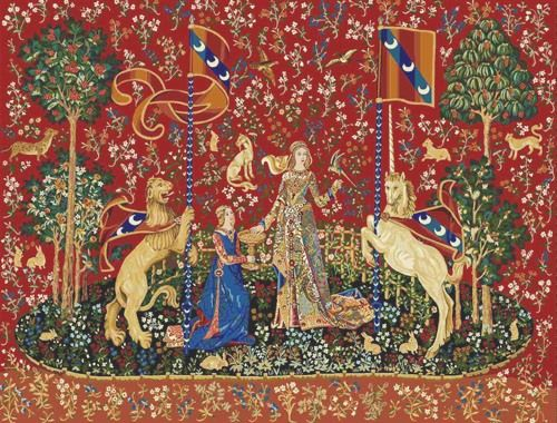 Orenco Originals Detail #2 from The Taste Panel from The Lady The Unicorn Tapestries Counted Cross Stitch Pattern