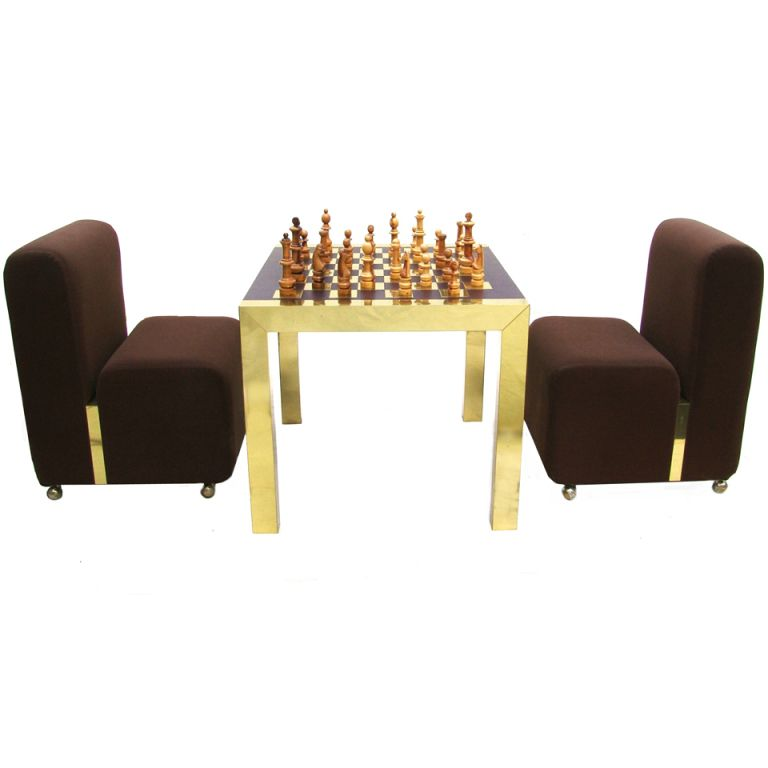 Rare Paul Evans Modern Chess Set Game Table With Lounge Accent Chairs From A Unique Collection Of Antique And Modern Game Tables Modern Chess Set Table Games